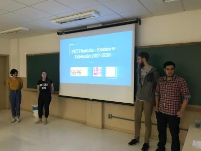 Apresentações do grupo no SIEPE 2018